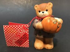 Vtg. 1985 Enesco Lucy & Me Harvest Pumpkin Bear Figurine