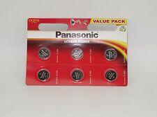 6 x Panasonic CR 2016 Lithium Power im 6er Blister - 3V - Uhren Knopfzelle