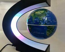 Globe Floating & Rotating In Midair, C Shape Magnetic Levitation Map -Desk Top