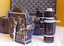 Bolex H16 Reflex Movie Camera Kern Paillard Vario Switar 18-86 Lens Pelican Case