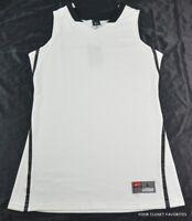 """Nike Women's Basketball Jersey """"Hyper Elite"""" sz Large White w/ Black Trim 436641"""