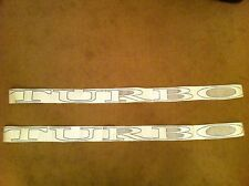 Renault Fuego Turbo Side  Decals Stickers Silver 7700750640 7700750644