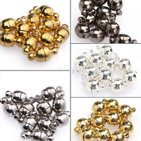 KE_ 10Pcs 6mm/8mm Round Mini Ball Magnetic Clasps All Match DIY Necklace Tools