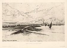 "Sir Francis Seymour Haden ""Erith Marshes"""