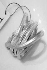 Gefolochtener Ring, 12 mm , 925 Sterlingsilber, Flamere Design by Dieter Fischer