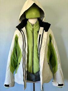 **3-in-1*sz 10 Spyder Water Repellent Women's Pandora Jacket Removable Hood Coat