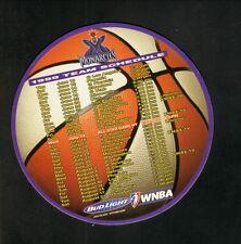 Sacramento Monarchs--1999 Magnet Schedule--Bud Light--WNBA