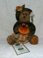 """New ListingThe Bearington Collection Autumn Harvest Teddy Bear Mib 14"""""""
