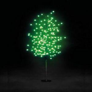 1.5m LED globe Christmas tree - green led bulbs