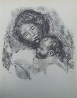 Auguste Renoir (Nach ) : Mutterschaft - Lithografie Unterzeichnet # Mourlot