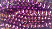 Joblot 10 strings (720 beads) 8mm Purple colour AB Crystal beads new wholesale