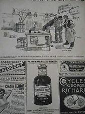 Caricature 1905 - Au kiosque de Bicetze On boit de l'Oxygénée verte Cusenier