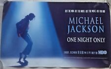 TRUE VINTAGE MICHAEL JACKSON 1995 HBO ONE NIGHT ONLY PROMO DISPLAY POSTER 12X20""