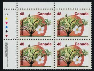 Canada 1363 TL Plate Block MNH McIntosh Apple Tree, Apple, Fruit