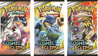 Pokemon COSMIC ECLIPSE 10 10x Ten Booster Packs Sealed Box TCG TRADING CARD  NEW