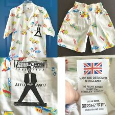 Rare Vintage David Bowie Sound Vision 1990 M Shirt w/kids shorts Dad Son Crew
