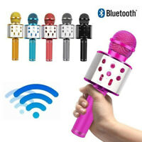 WS858 Karaoke Microphone Speaker Wireless Bluetooth Handheld Mic USB Player