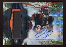 2014 Finest Rookie Auto Patch #RAP-JH Jeremy Hill Camo Refractor (Bengals) 04/10