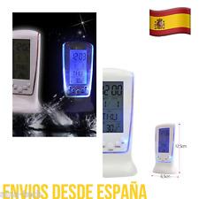 Reloj Despertador Alarma Con 7 Melodías Termómetro Luz LED AZUL