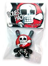 """Bones Hack custom 3"""" Dunny by Zukaty Art kidrobot Huck Death Skull"""