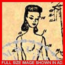 US Patent Vintage BARBIE DOLL #1-1959 (1of3) #008.9