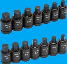 Craftsman 1/2 Drive Impact 14 Piece HEX ALLEN Key Bit Socket Set 7 Metric MM SAE
