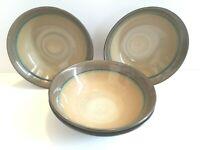 "4 Sango Roma Sage 4814 Stoneware 7 3/4"" Soup Salad Cereal Brown Replacement Bowl"