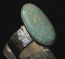 Coober Pedy Multicolor Opal 3.6 Karat 925er Silberring Größe 17,5 mm  Unikat