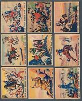 1930's V306 O-Pee-Chee Wild West Trading Cards Near Set of 39/48