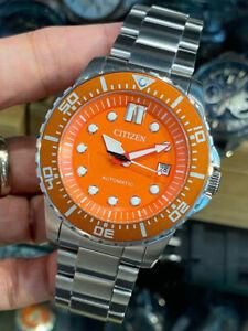 Citizen Automatic 100m Orange Dial Men's Watch NJ0128-80X