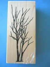 STAMPSCAPES Tall BARE TREES Rubber Stamps SCENERY