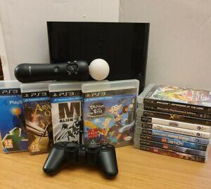 Sony Playstation 3 PS3 12GB Super Slim Console MEGA BUNDLE 13 GAMES INC 4 MOTION