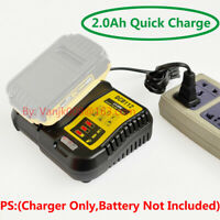 1x DeWalt DCB102 DCB203 XR Li-Ion Battery Replacement Quick Charger-Charger Only