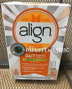 Align Probiotic Digestive Care Supplement 56 Capsules 8 Week Supply DEC'21 #9535