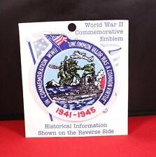 "Awesome Commemorative WWII USA Military 4"" Embroidered Patch"