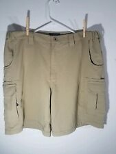 RAIL RIDERS VERSATAC Shorts Mens L Textured Nylon Cargo Stone MSRP $79