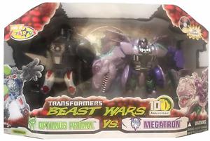 Transformers Beast Wars 10th Anniversary Optimus Primal Vs Megatron Set NEW 2005