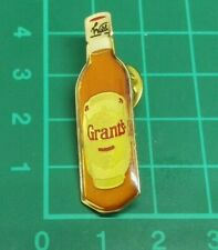 Vintage, Retro, Collectable, Grants Whiskey Bottle Pin Badge