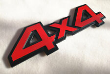 Red 4x4 Badge Emblem Decal Metal 3D Sticker For Jeep Cherokee Wrangler SUV