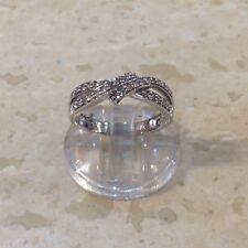 9ct 0.25ct Diamond Ring. Size N.