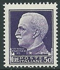 1929-42 REGNO IMPERIALE EFFIGIE 50 LIRE MNH ** - IM5-6