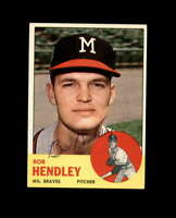 Bob Hendley Hand Signed 1963 Topps Milwaukee Braves Autograph