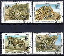 Animaux Félins Afghanistan (145) série complète 4 timbres oblitérés