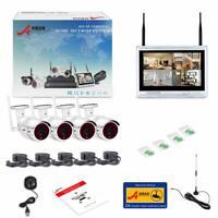 """ANRAN Cámaras de Seguridad Inalámbricas con Monitor LCD 12"""" WiFi 4CH 1080P NEW"""