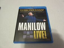 Manilow Live (Blu-ray Disc, 2008) Good Shape Used Tested No Inserts Rare OOP BIN