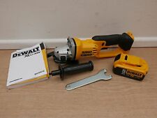 "DEWALT XR 18v DCG412 5"" 125MM ANGLE GRINDER BARE UNIT + DCB184 5 AH BATTERY"