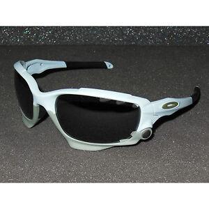 New Oakley Racing Jacket Sunglasses GP 75 Matte Blue Ice/Black Iridium, Clear