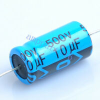 25pcs Axial Electrolytic Capacitor 10uf 500V for Tube Amp DIY