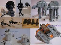 Lego Hoth Rebel Base Star Wars Instructions Custom Empire Strikes Back AT AT