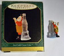 1997 Ice-Cold Coca-Cola Hallmark Keepsake Miniature Santa Ornament with box